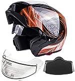 Best Modular Snowmobile Helmets - Typhoon G339 Adult Dual Visor Modular Snowmobile Helmet Review