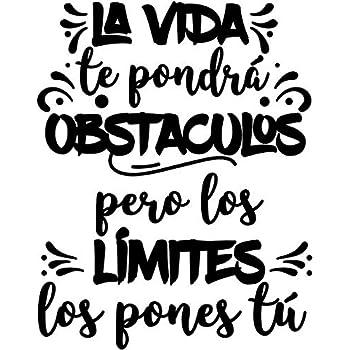 """CrisPhy® Frase Vinilo""""La vida te pondra obstaculos"""