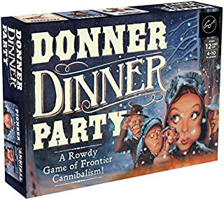 Mudpuppy Chronicle Books Donner Dinner Party: A Rowdy Game of Frontier Cannibalism! (Weird Games for Parties, Wild West Frontier Game)