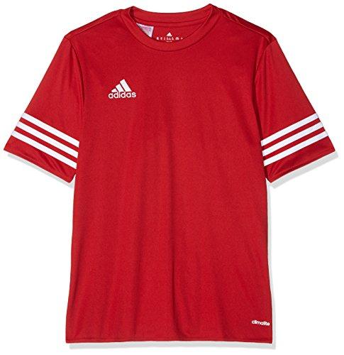 Adidas F50485, Maglietta Bambini, Rosso (rot / weiß), 128