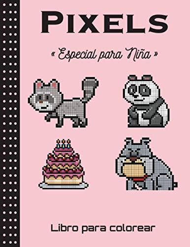 Pixels - Especial para Niña - Libro para colorear: Cuaderno de dibujo de pixel art para niños y adultos - Cuaderno grande de pixel art cuadrado. ... de colorear pixel art para niños y adultos