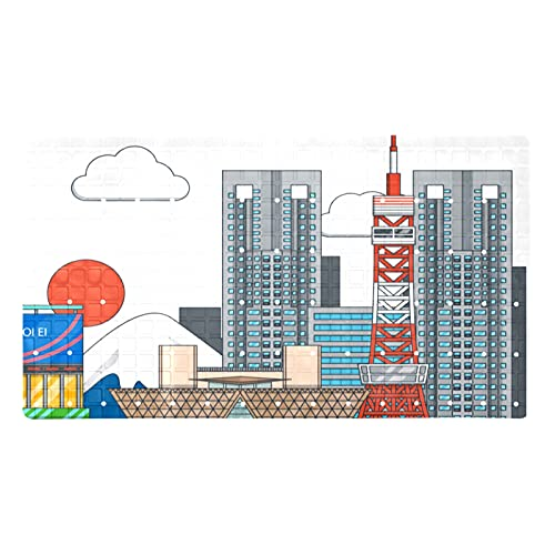 Evernever Alfombra de ducha antideslizante para edificios con impresión de bañera, alfombrillas con ventosas, 45,7 x 70,9 cm