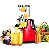 WWWANG Reducir la Velocidad de Corte exprimidor masticación Libres, Manos Libres, Entera de Frutas y Verduras, Tranquila, de fácil Limpieza Almacenamiento pequeño, práctico y portátil