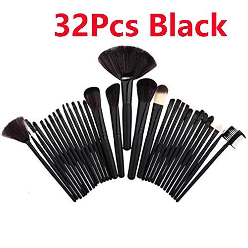 MEISINI Maquillage Pinceau Maquillage Pinceaux Maquillage Ombres Base Poudre Poudre Fard À Paupières Fondation Eyeliner Cils Lèvre, 32Pcs Noir