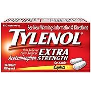 Tylenol- PM, Extra Strength Caplets, 24 Count