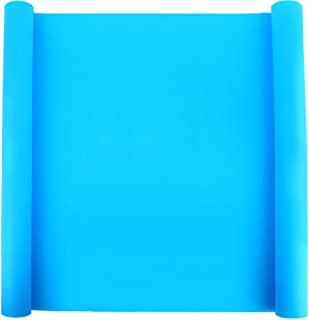 "LEOBRO 23.2"" x 15.6"" Oversize Silicone Mat for Crafts, Nonslip Nonstick Silicone Sheet for Jewelry Casting Mat, Heat-Resistant Craft Mat for Epoxy Resin, Glitter Slime, Paint, Sky Blue"
