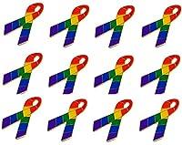 ゲイ&レズビアンプライドレインボーリボンラペル帽子ピン