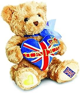 London Bear 20cm with Heart Soft Plush by Keel Toys Souvenir …