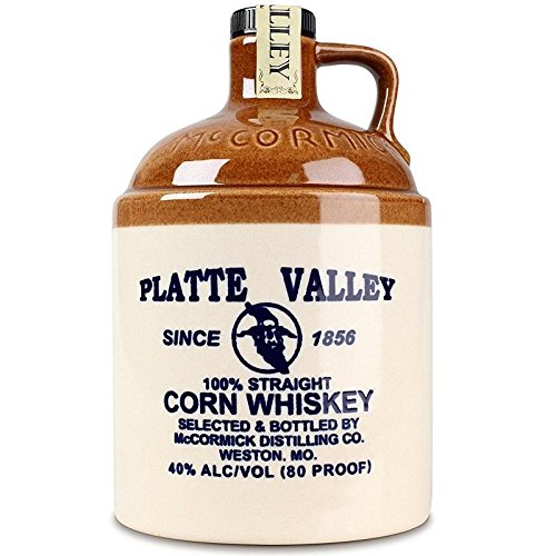 PLATTE VALLEY 100% STRAIGHT CORN WHISKEY CL.70