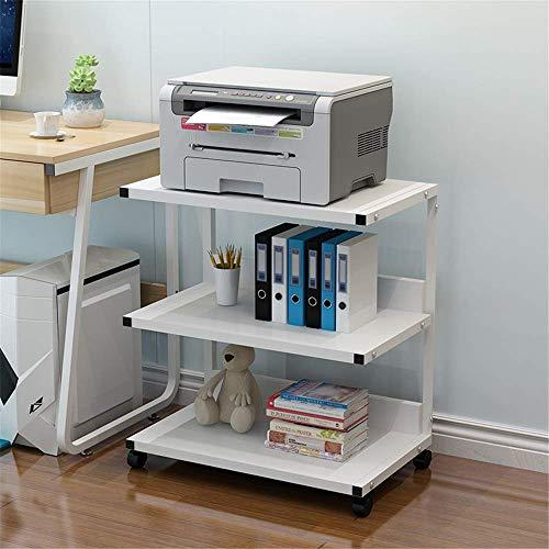 Druckerregal für Haushaltsgeräte Druckregal Büroregal Kopierregal Abnehmbares Mainframe-Rack Mehrschichtiges Bodenlager Lagerung Mainframe-Rack 52 x 40 x 66 cm für das Home Office (Farbe: Weiß Größ
