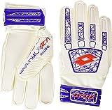 Lotto Glove Lzg 900 Jr - Guantes de fútbol para niños, Color Blanco/Rojo, Talla 5