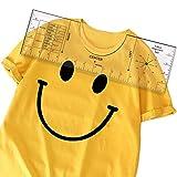 Hard T-Shirt Ruler to Center Designs - T-Shirt Alignment Tool for Center Vinyl[16'×5']