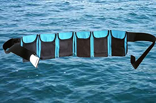 AKM - Scuba Diving Weight Belt (6 Pocket Blue Large)