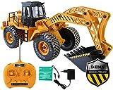 GYD Radlader RC Baufahrzeug, Bagger, 3 Kanal, Maßstab 1:18, mit Akku Spielzeug Spiel Trecker Bagger Ferngesteuert NEU