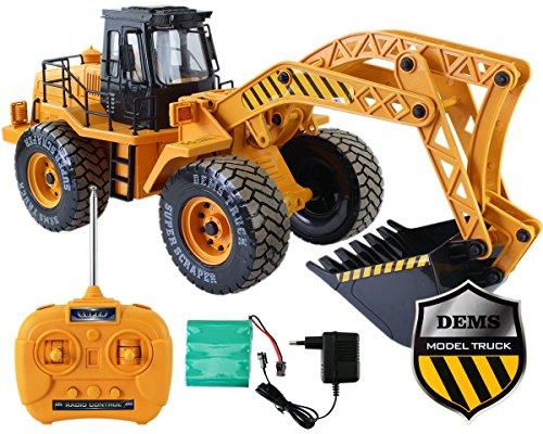 GYD Radlader RC Baufahrzeug, Bagger, 3 Kanal, Maßstab 1:18, mit Akku Spielzeug Spiel Trecker Bagger Ferngesteuert NEU*