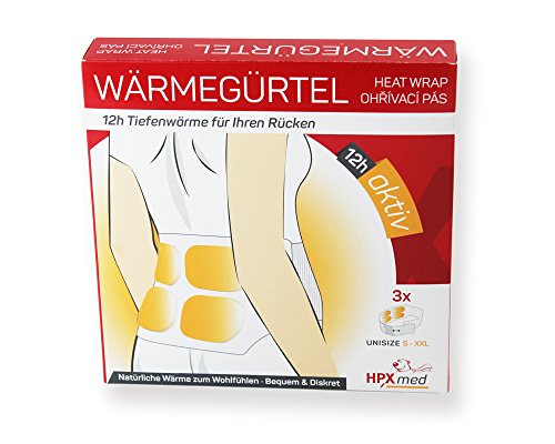 HeatPaxx Wärmegürtel   3 Stück Rückenwärmer   EXTRA WARM   12 Stunden Tiefenwärme   universell für alle Größen   sofort einsatzbereit