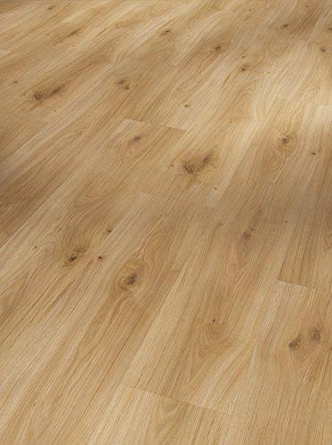 Parador Klick Laminat Bodenbelag Basic 200 Eiche Horizont Natur Landhausdiele Seidenmatte Struktur 2,991m² hochwertige Holzoptik braun/beige, 7 mm, einfache Verlegung