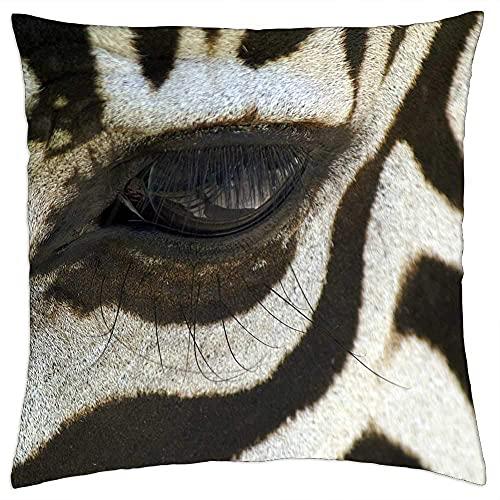 N\A Cojín Decorativo Zebra Macro Blanco y Negro Zebra Stripes Animal