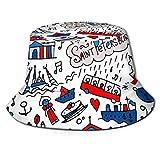 MKH America Hawk - Sombrero plegable de lona con bandera de Halcón, para viajes de verano y primavera, para llevar al sol en la playa, Viajes a San Petersburgo, talla única