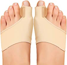 Bunion Corrector Sleeve Big Toe Straightener Bunion Splint Support Protectors Sleeve, with Silicone Gel Pad and Toe Separa...