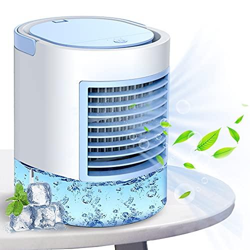condizionatore portatile, climatizzatori portatili, modo semplice e veloce per rinfrescare lo spazio personale, adatto per la stanza, l'ufficio e la sala studio. Regolazione di tre livelli di vento