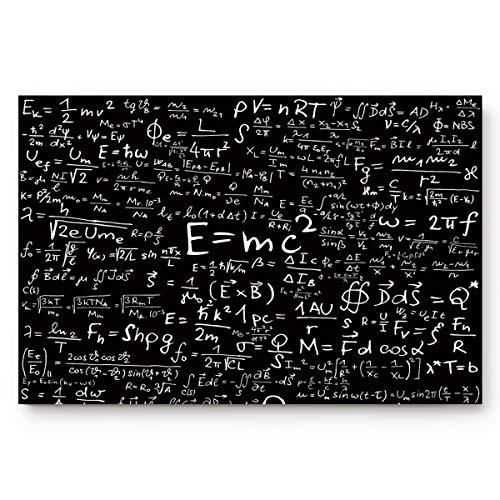 EZON-CH Rutschfeste Physik Formel Wissenschaft Geek Schwarz Home Badezimmer Bad Dusche WC Boden Fußmatte Teppich Teppich Pad Fußmatte Schlafzimmer 23.6x15.7 Schwarz