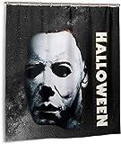 Setyserytu Cortinas de baño, Shower Curtain with Hooks Halloween Michael Myers Home Curtains...