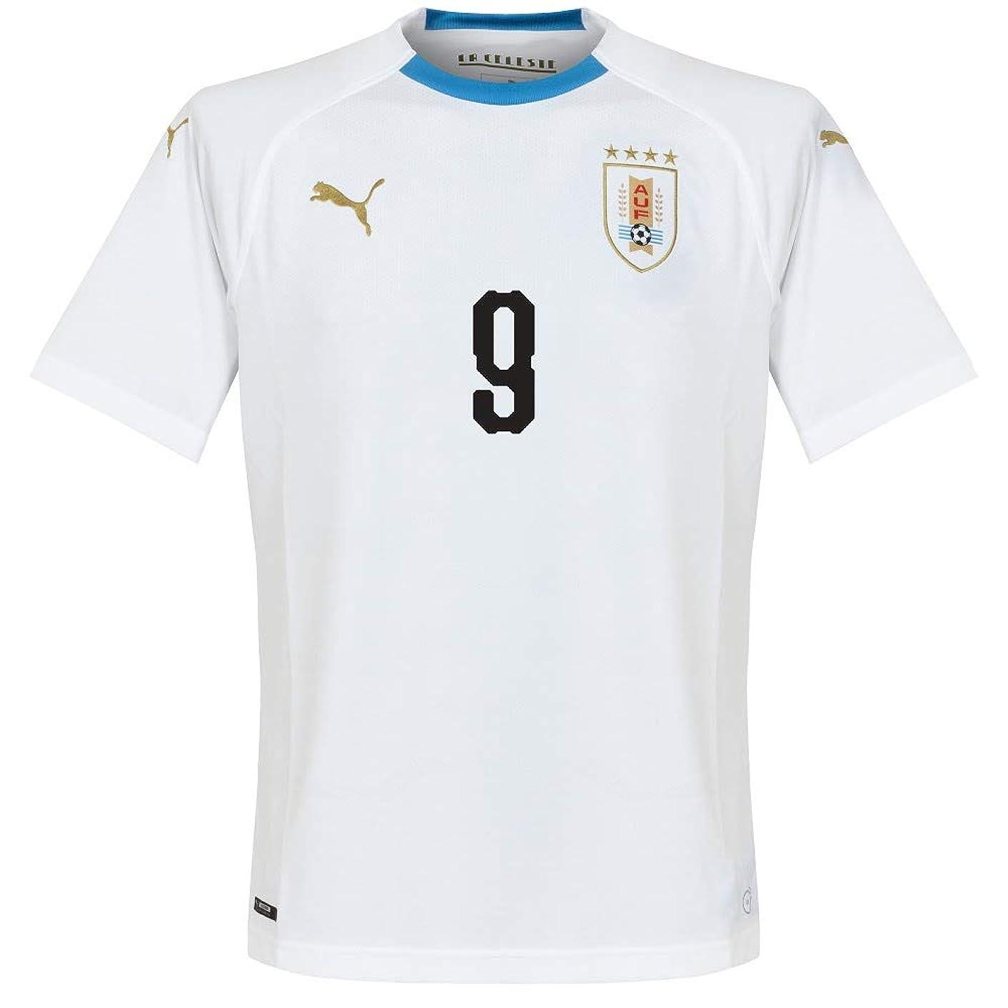 PUMA Uruguay Away Suarez 9 Jersey 2018/2019 (Official Printing) - L