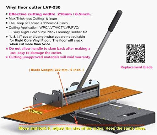 "MantisTol 8 .5"" (218mm)Pro LVT/VCT/LVP/PVC/WPC/Vinyl Plank Cutter LVP-230. Best buy!"