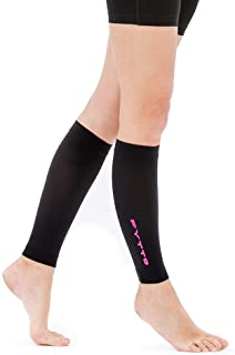 Fytto 1022 Women/Men's Calf Sleeves, 15-20mmHg Graduated Compression – Lightweight, Opaque, Footless Compression Socks, Versatile Relief for Aching Legs