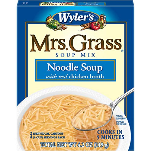 Mrs. Grass Noodle Soup with Chicken Broth (4.2 oz Cans, Pack of 12)