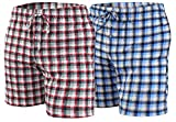 Sesto Senso Pantalones Cortos de Pijama Hombre Algodón Pantalón de Dormir 4XL 2Pack 10+15