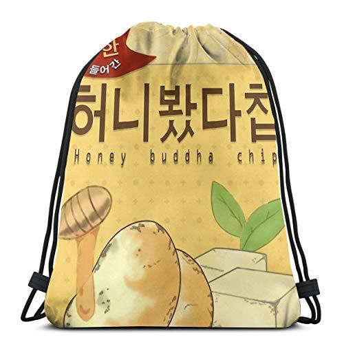 JIALIA Mystic Messenger Honey Buddha Chip Sport Bag Gym Sack Drawstring Backpack