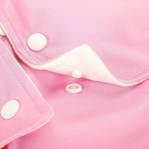 Wiederverwendbare Adult Windel, Polyester-Tuch Breathable Leakfree Pocket Windel waschbar Cover Windel Tuch für Inkontinenz-Pflege mit verstellbaren 3 Reihen von Snaps(Pink)