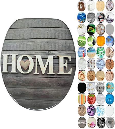 WC Sitz mit Absenkautomatik, viele schöne WC Sitze zur Auswahl, hochwertige und stabile Qualität aus Holz (Welcome)