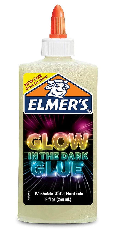 エルマーズ(Elmer's) 暗闇で光るグルー スライム液体のり (蓄光ナチュラル, 266mL) [並行輸入品]