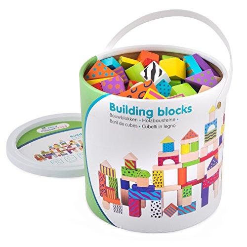 New Classic Toys Jeu Éducatif pour Enfants Baril de Cubes - Fantaisies - 100 pièces