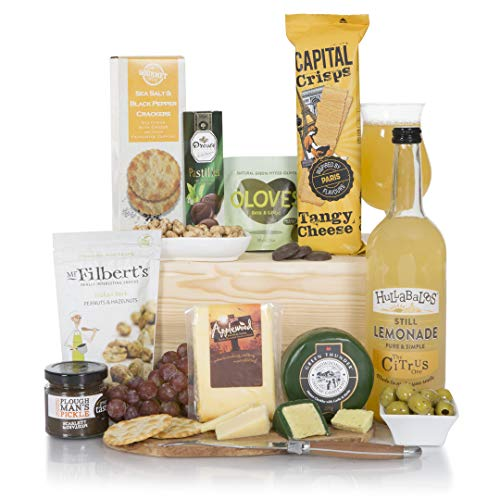 Alcohol Free Christmas Cheese Hamper - The Perfect Non Alcoholic Food Gift Hamper - Xmas, Thank You, Birthday & All Occasion