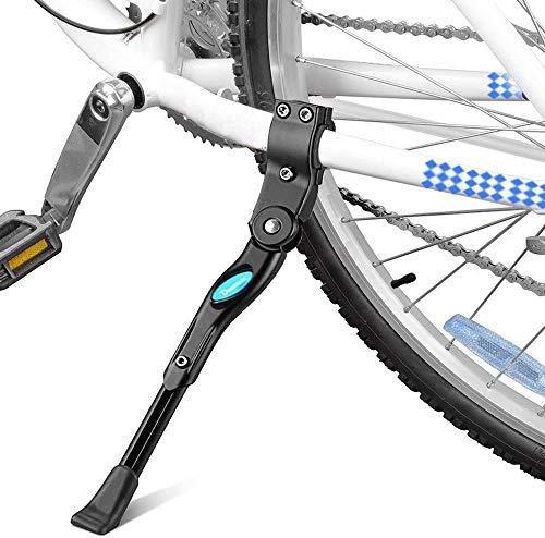 Tokenhigh cykelstöd, sidostöd,stöd,cykelställ, cykelställ, cykelställ, cykelstöd,cykelstöd,cykelstöd,aluminiumlegering sparkställ,cykellegering justerbar sidoställ för cykel 55,88 cm - 71 tum