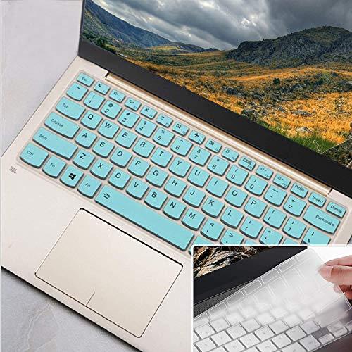 Lapogy Keyboard Cover for Lenovo Yoga C940 C930 920 13.9,Flex 14 14''/15 15.6''/Flex 5 14'',Yoga 730 720 13.3''/Yoga 730 15.6''/Yoga 720 12.5 inch,Lenovo IdeaPad 3 14' Protective Skin, Mint+Clear