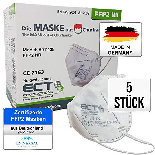 COCO BLANCO FFP2 Masken CE Zertifiziert aus Deutschland - 5X FFP2 Maske (NR) MADE IN GERMANY - Premium Atemschutzmaske FFP2 ohne Ventil für maximale Sicherheit