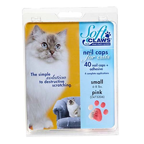 Feline Soft Claws Cat Nail Caps Take-Home Kit, Small, Pink