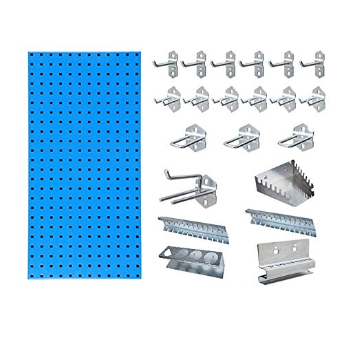Asffdhley Pegboard Metal Peg Boards Metal Peg Boards With Hook Set Wall Control Pegboard Organizer for Home, Shed, Workshop or Garage (Color : Photo Color, Size : C)