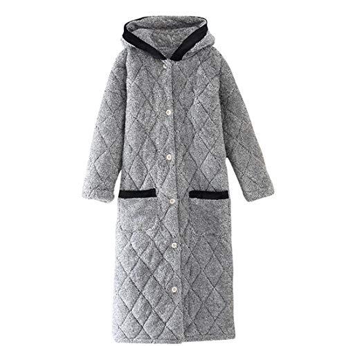 Yuyaxpb Luxe Dressing Gown Damesjurk super zacht met capuchon pluche badjas met twee zakken knoop badjas dames meisjes jongeren cadeau