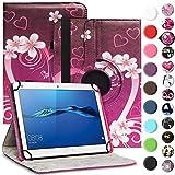 UC-Express Tablet Hülle für Huawei MediaPad M2 10.0 Tasche Schutzhülle Case Cover 360° Drehbar, Farben:Motiv 3