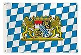 Bandiere di aricona - bandiera della Baviera, resistente alle intemperie con 2 occhielli in metallo - bandiera bavarese tradizionale 90 x 150 cm