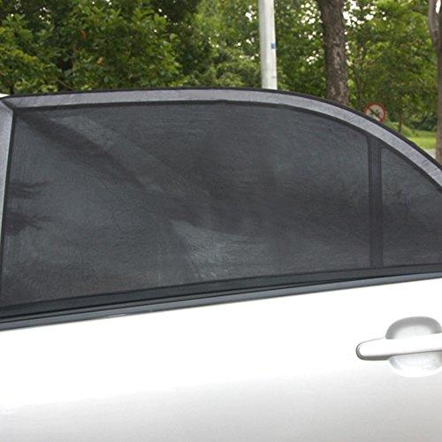 KuGee Parasol de La Ventana Trasera del Coche 2 Piezas de Protección UV de La Cortina de La Ventana del Lado del Coche Ajustable para Vehículos Pequeños
