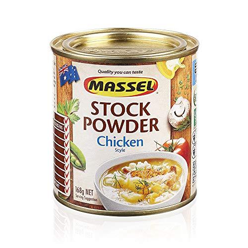 Massel, Bouillon-Suppenpulver - Ohne MSG, Glutenfrei, Hühnergeschmack - 168 g, Packung mit 6 Suppenbrühen in Dosen