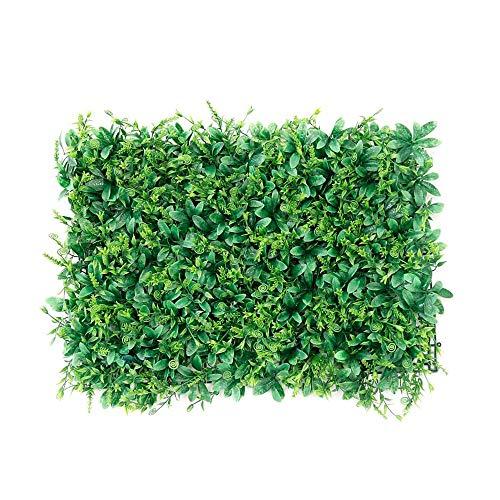 XIAOLIN Kunstmatige Plant Panelen Decor Groene Achtergrond muur Privacy Scherm Tuin Hedge Schermen 23.6