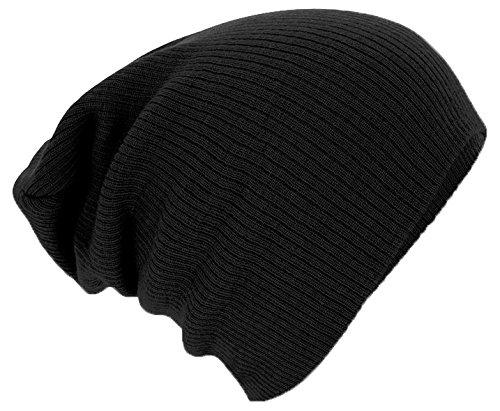 Beechfield Bonnet Unisexe B461.BLK Slouch, Noir, Taille Unique